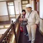 東京駅の設計者辰野金吾の故郷唐津では辰野ゆかりの唐津銀行が修復を終えて公開を待っていました。