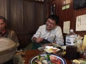 石巻で私の1番好きな居酒屋こころ。熊谷秋雄さんです